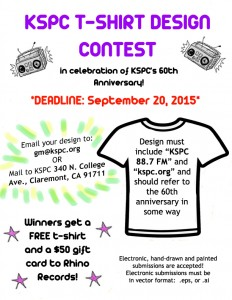 KSPC 60th Anniversary T-shirt Design Contest