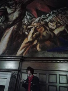 Ian visits Orozco's Prometheus mural on campus.